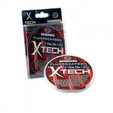 """Леска Kosadaka флюорокарбон """"X-TECH"""" 0,10мм 30м (10шт) LXTC010T"""